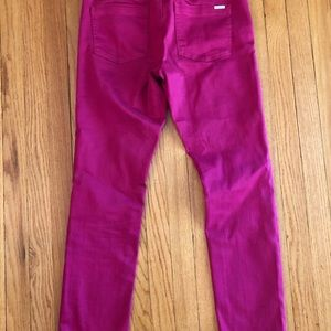 White House Black Market Jeans - White house black market cranberry Jeans Size 8R
